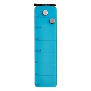 Weekly Glass Magnetic Dry Erase Board Turquoise
