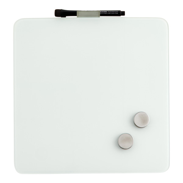 Magnetic Glass Dry Erase Board White