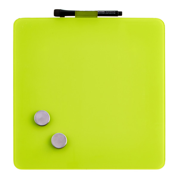 Magnetic Glass Dry Erase Board Spring Green