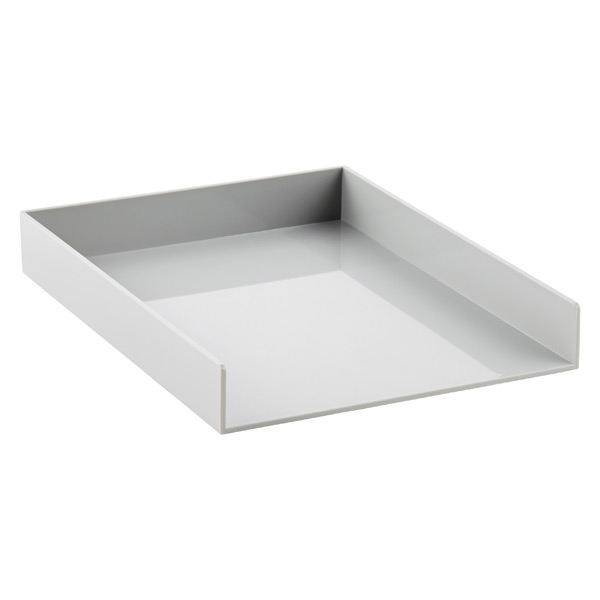 Poppin Stacking Letter Tray Grey