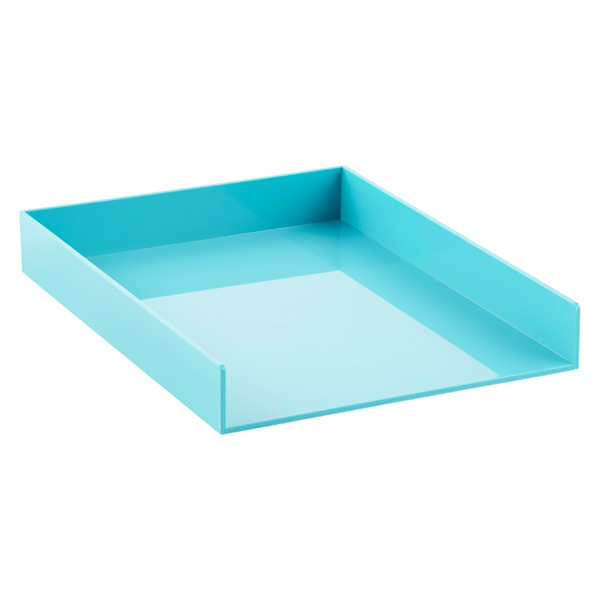 Poppin Stacking Letter Tray Aqua