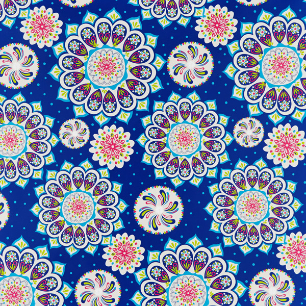 Wrap Medallion Treasure Blue Multi