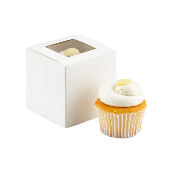 Cupcake Box with Window White