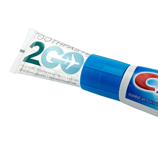 Toothpaste 2 Go™ Tube & Refill Adapter System