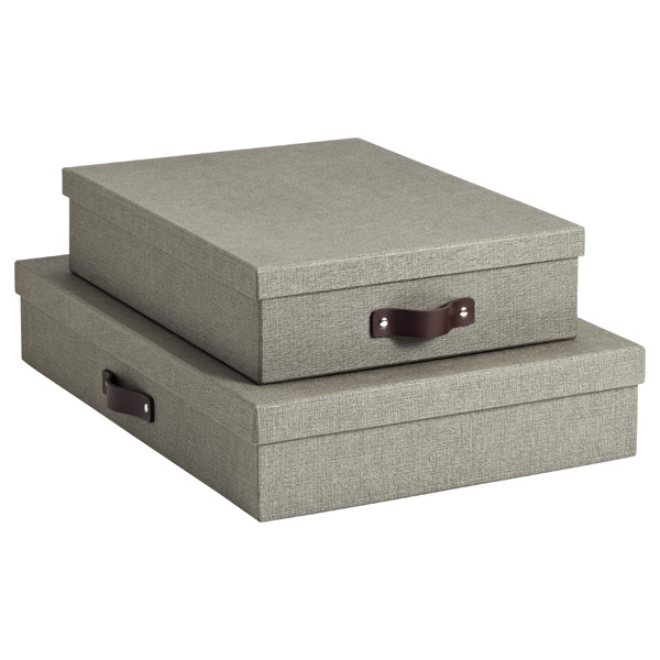 Grey Marten Office Storage Boxes