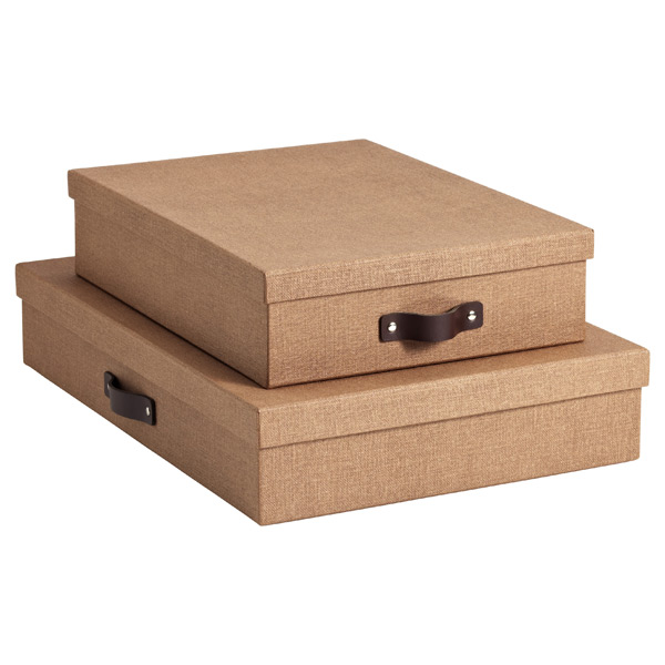 Chestnut Marten Office Storage Boxes