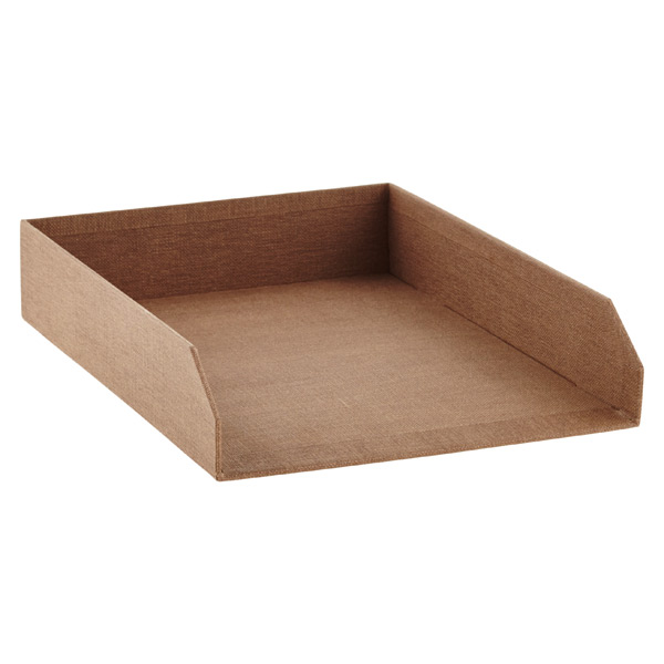 Marten Stacking Letter Tray Chestnut