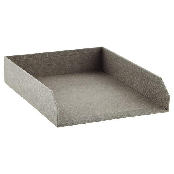 Marten Stacking Letter Tray Grey