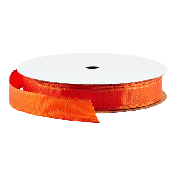 Wired Ribbon Bright Orange