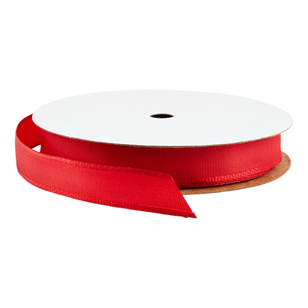 Wired Ribbon Bright Red