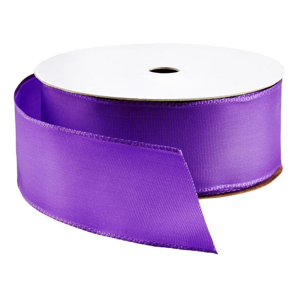 Bright Purple Wired Ribbon