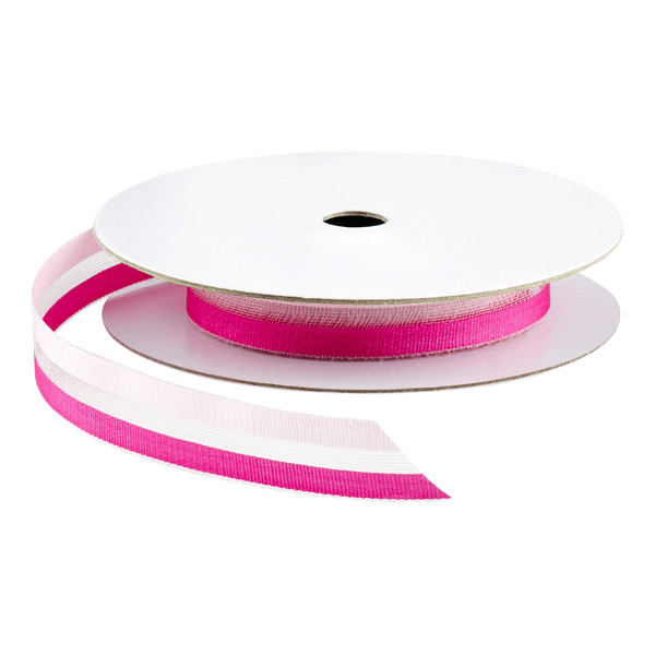 Pink Sheer Two-Tone Ribbon