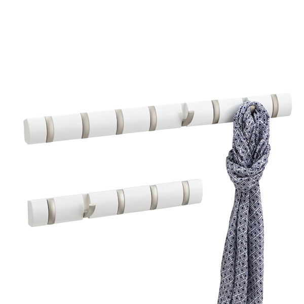 White Flip Hook Racks by Umbra®