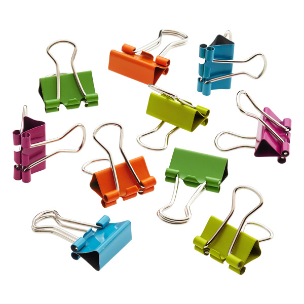 Mini Binder Clips Assorted Pkg/60
