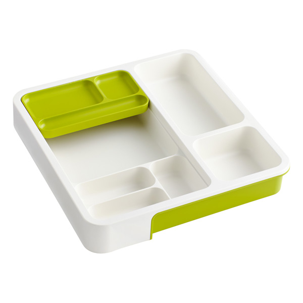 Expandable DrawerStore™ Organizer Green & White