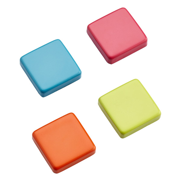 Small Snap! Strong Magnets Square Brights Pkg/4