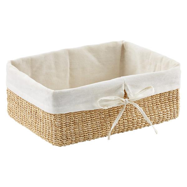 Natural Lined Makati Baskets; Large Makati Lined Basket Natural ...