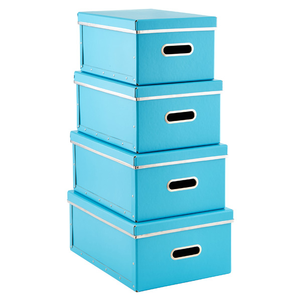 Bigso™ Store Anywhere Boxes Blue Set of 4