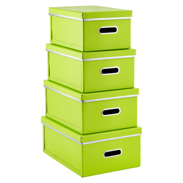 Store Anywhere Boxes Lime Set of 4