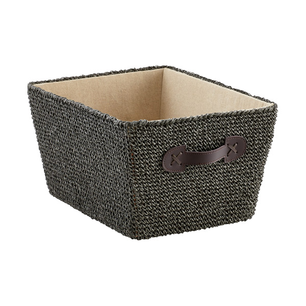 Medium Crochet Bin Grey