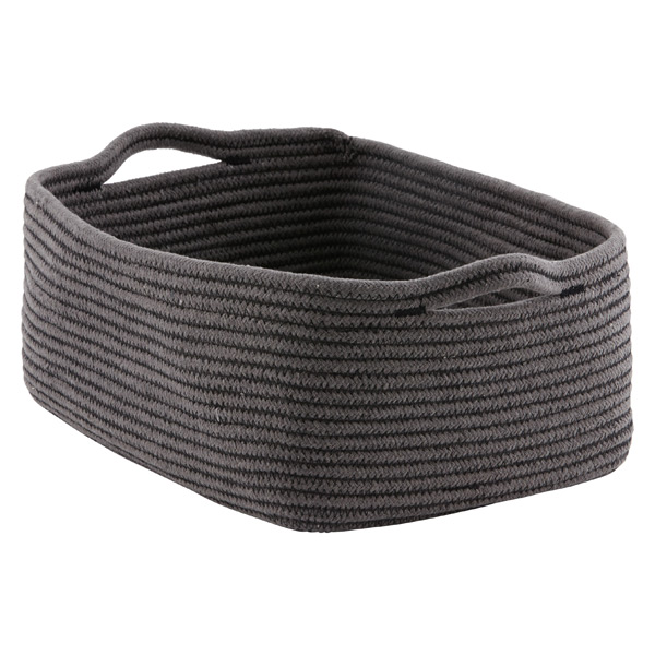 Large Cotton Rope Bin Grey