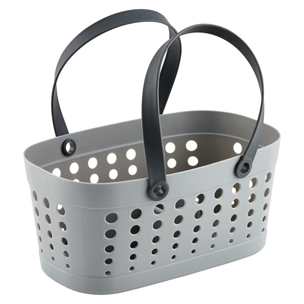 Flexible Shower Tote Grey