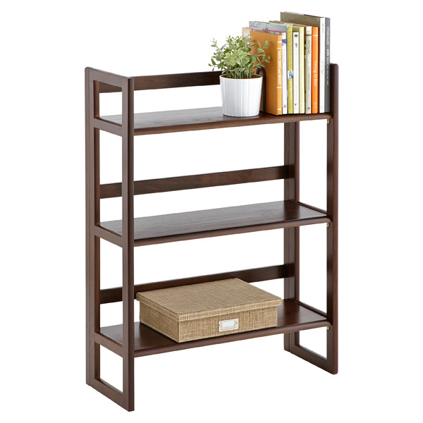 Solid Oak Stackable Folding Bookshelf Java