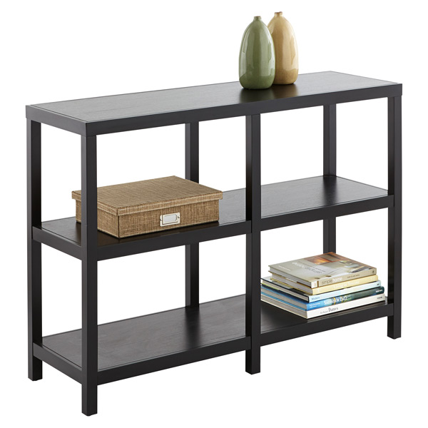 Copenhagen Low Wide Bookcase Ebony