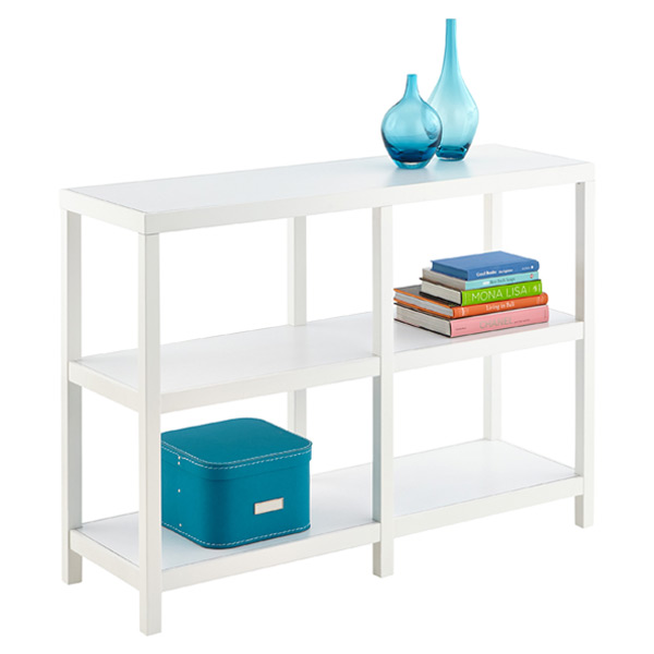 Copenhagen Low Wide Bookcase White