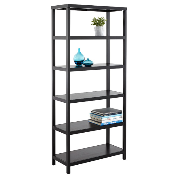 Copenhagen 6-Shelf Bookcase Ebony