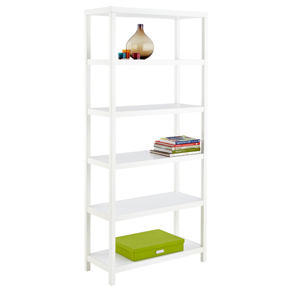 Copenhagen 6-Shelf Bookcase White