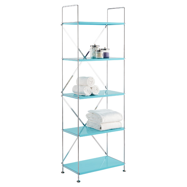 Barcelona 5-Shelf Bookcase Turquoise