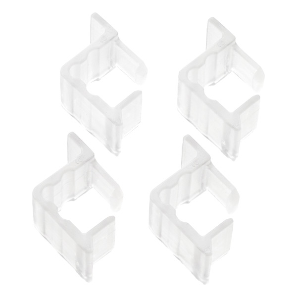 elfa Solid Drawer In & Out Stops Translucent Pkg/4