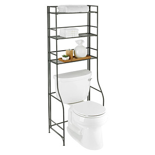 iron folding bath etagere the container store - Bathroom Etagere