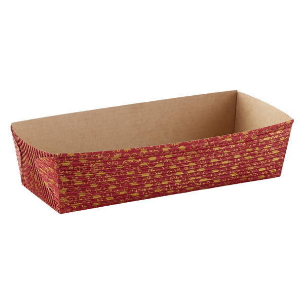Small Gold Leaves Loaf Pans Red Pkg/6