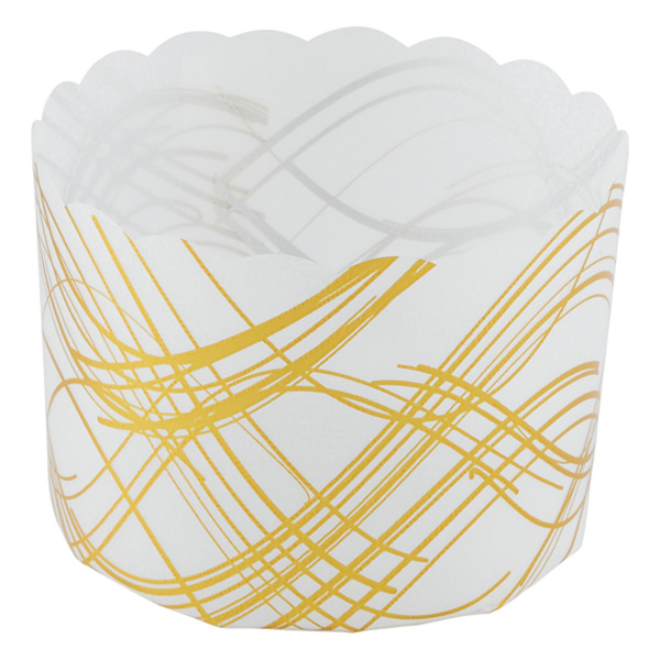 Gold Wave Baking Muffin Cups Translucent Pkg/12