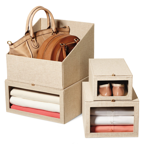 Great Linen Drop Front Shoe Box