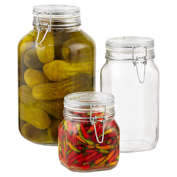Storage Jars Hermetic Glass Storage Jars The Container Store