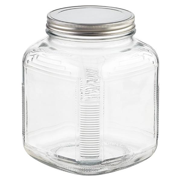 anchor hocking glass cracker jars with aluminum lids