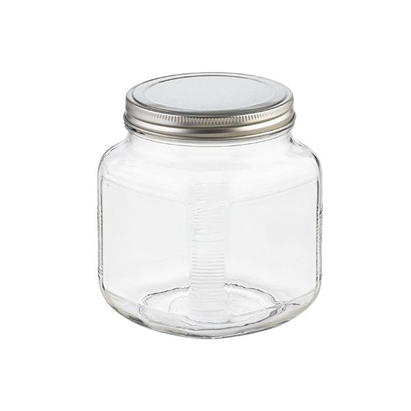 6bb466d4a34 Glass Cracker Jar Aluminum Lid ·   · 1 qt. Glass Cracker Jar Aluminum Lid