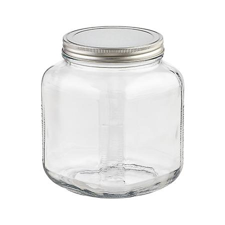 anchor 2 qt. Glass Cracker Jar Aluminum Lid