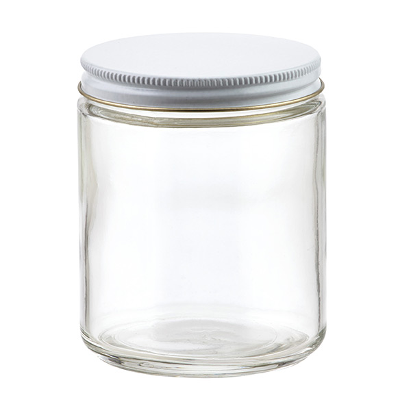 commercial straight sided glass jars the container store. Black Bedroom Furniture Sets. Home Design Ideas