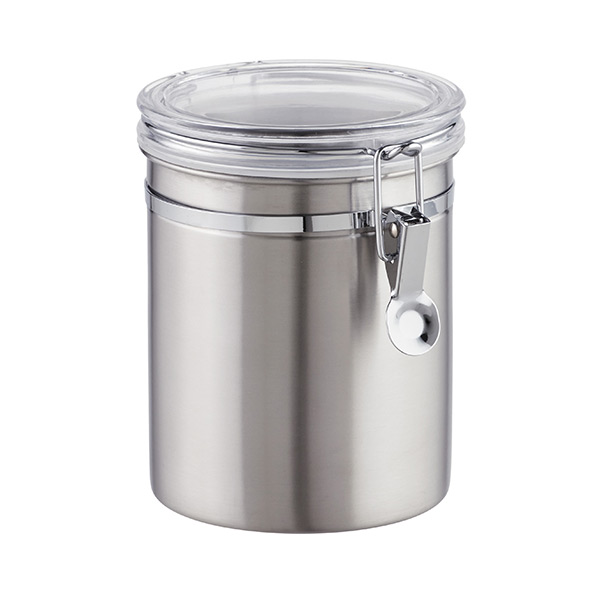 48 oz. Canister Brushed Stainless
