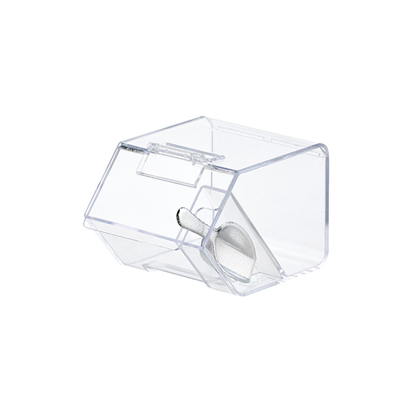Small Goodie Bin with Scoop Clear