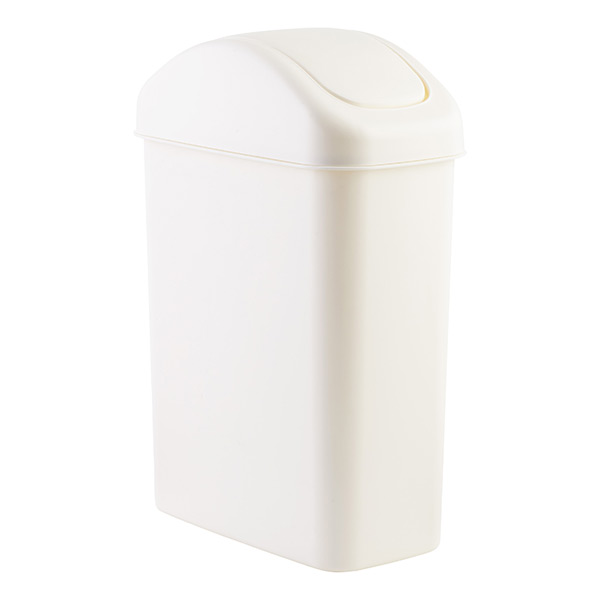 white swing lid trash cans the container store. Black Bedroom Furniture Sets. Home Design Ideas