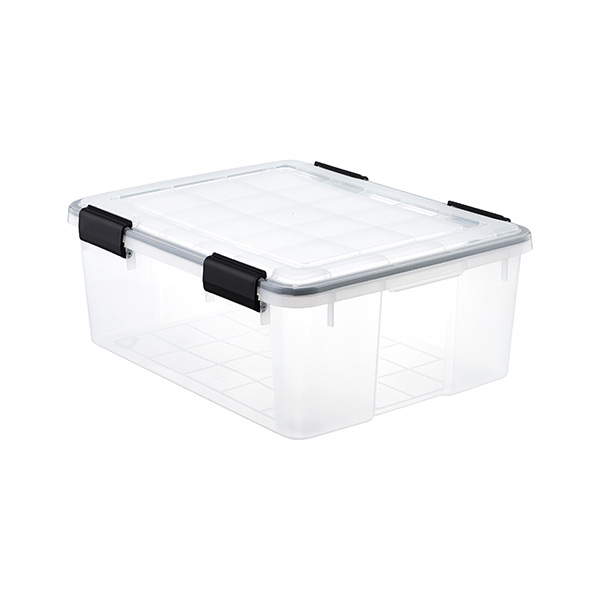 30.6 qt. Watertight Tote Clear