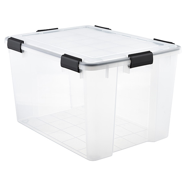74 qt. Watertight Tote Clear