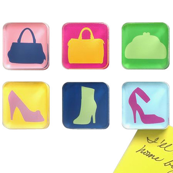 Shoe & Handbag Magnets Multi Pkg/6