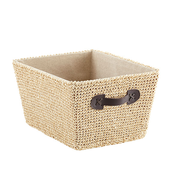 Medium Crochet Bin Natural