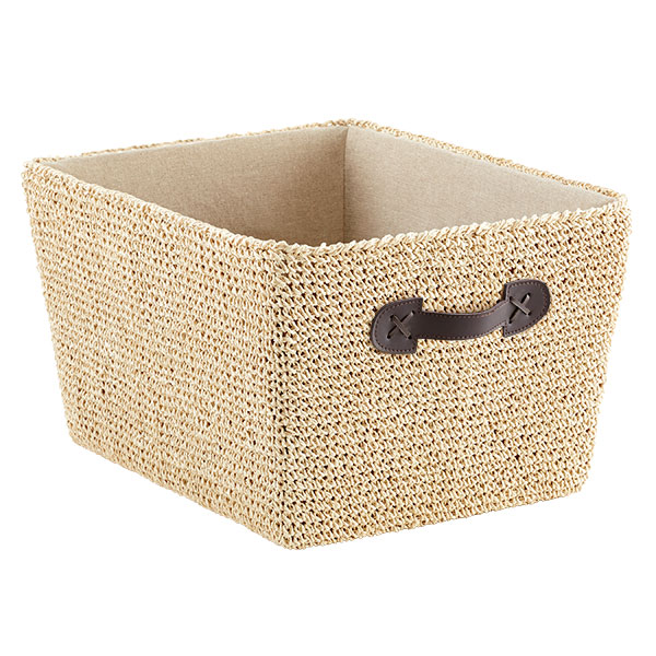 Large Crochet Bin Natural